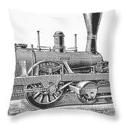 Locomotive Sandusky, 1837 Throw Pillow