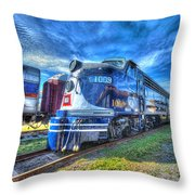 Locomotive Wabash E8 No 1009 Throw Pillow