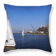 Locust Pt Sailing Throw Pillow