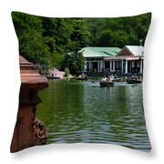 Loeb Boathouse Central Park Throw Pillow