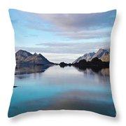 Lofoten Islands Water World Throw Pillow