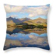Lofoten Panorama Selfjorden Norway Throw Pillow