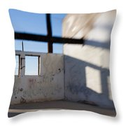 Loft For Rent  Burnt Out Building Or Wharehouse Throw Pillow