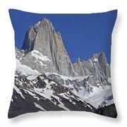 Lofty Mount Fitz Roy Throw Pillow
