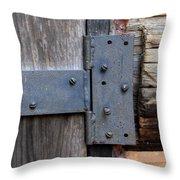 Log Cabin Door Hinge Throw Pillow