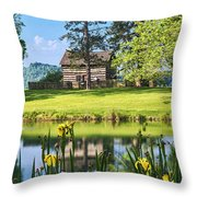 Log Cabin Reflections Throw Pillow