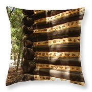 Log Corner Throw Pillow