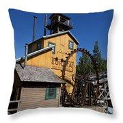 Log Flume Ride Disneyland Throw Pillow