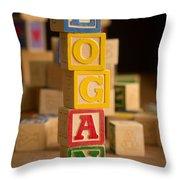 Logan - Alphabet Blocks Throw Pillow