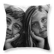 Logan And Ashlyn Commission Throw Pillow