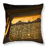 Loge Of The Sultan In Hagia Sophia  Throw Pillow