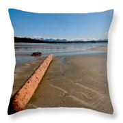 Logger Left Overs Throw Pillow