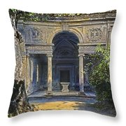 Loggia Of The Muses Throw Pillow