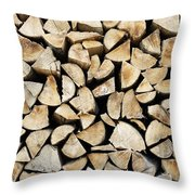 Logs Background Throw Pillow