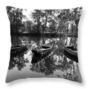 Loire River Boats Throw Pillow