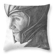 Loki Smirking Throw Pillow
