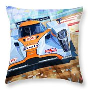 Lola Aston Martin Lmp1 Racing Le Mans Series 2009 Throw Pillow