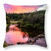 Lolo Hot Springs Creek Throw Pillow