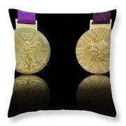 London 2012 Olympics Gold Medal Design Throw Pillow