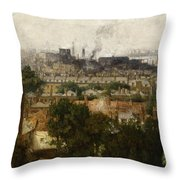 London And The Thames From Greenwich Throw Pillow by John Auld