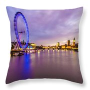 London At Night Throw Pillow