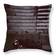 London Bench Throw Pillow