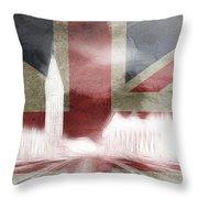 London Big Ben Abstract Throw Pillow