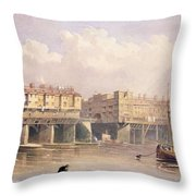 London Bridge, 1835 Throw Pillow