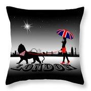 London Catwalk Queen Too Throw Pillow