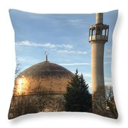 London Central Mosque Throw Pillow