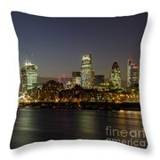 London City And Tower Bridge Throw Pillow