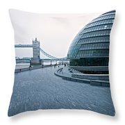 London City Hall Throw Pillow