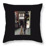 London Couple  Throw Pillow