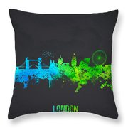 London England Throw Pillow by Aged Pixel
