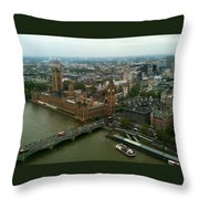 London England From The London Eye Throw Pillow