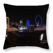Downtown London Throw Pillow