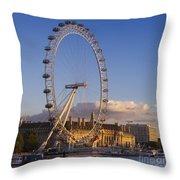 London Eye Throw Pillow