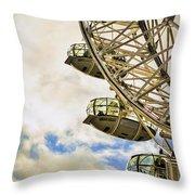 London Eye View Throw Pillow