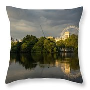 London - Illuminated And Reflected Throw Pillow