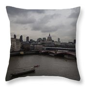 London Landscape Throw Pillow