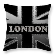 London Modern Union Jack Flag Throw Pillow