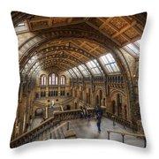 London Natural History Museum Throw Pillow