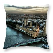 London - Palace Of Westminster Throw Pillow