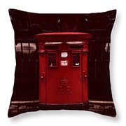 London Post Box Throw Pillow