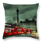 London Red Buses And Routemaster Throw Pillow