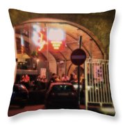 Eating Out In London Throw Pillow