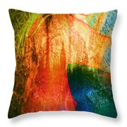 London Revisited Throw Pillow