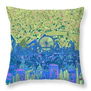 London Skyline Abstract 8 Throw Pillow