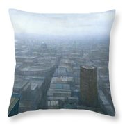 London Skyline Cityscape Throw Pillow