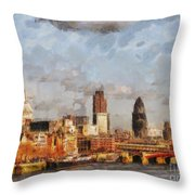 London Skyline From The River  Throw Pillow